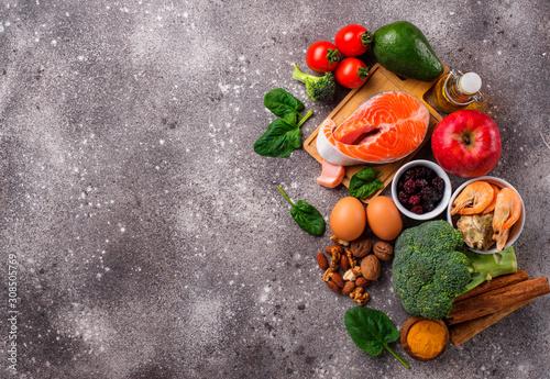 Cuadros en Lienzo  Food for brain and good memory