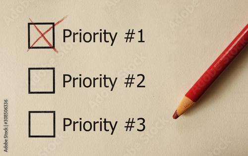 Top Priority check box Wallpaper Mural