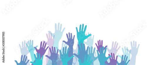 Obraz mani, comunità colori, solidarietà - fototapety do salonu