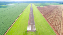 Aerial View Of Paved Airplane ...
