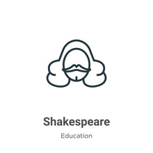 Shakespeare Outline Vector Ico...