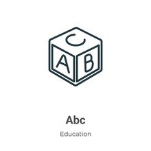 Abc Outline Vector Icon. Thin ...