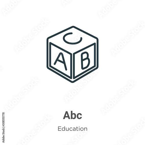 Photo Abc outline vector icon