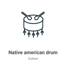Native American Drum Outline V...