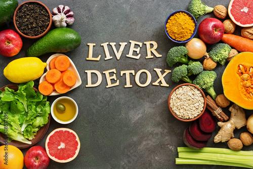 Fotografía  Liver detox diet food concept