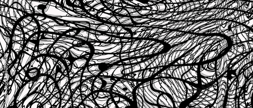 Plakaty czarno białe  spiral-geometric-black-white-lines-3d-render-jpg