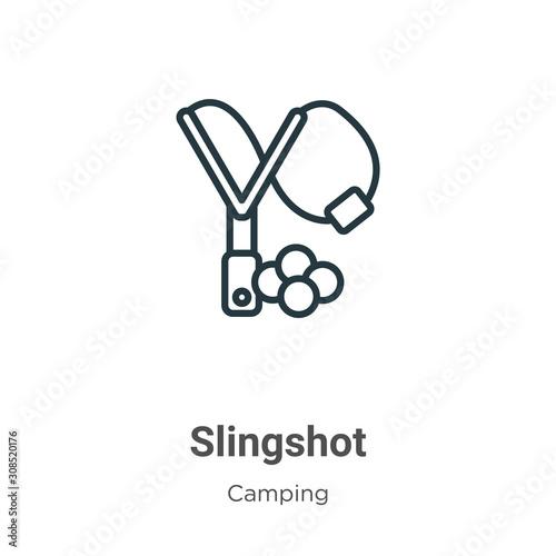 Slingshot outline vector icon Fototapet