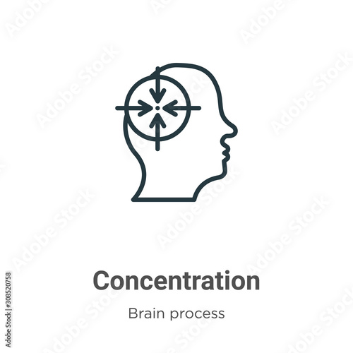 Obraz na plátne Concentration outline vector icon