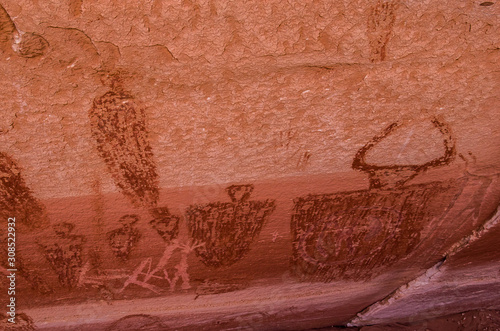 Anchient Rock Art Canvas Print