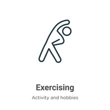 Exercising Outline Vector Icon...