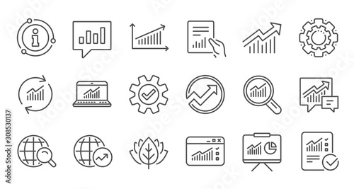 Analytics line icons Fototapeta