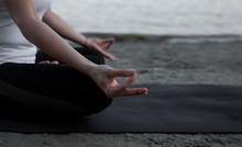 Close Up Of Woman's Hands In Mudras Meditation