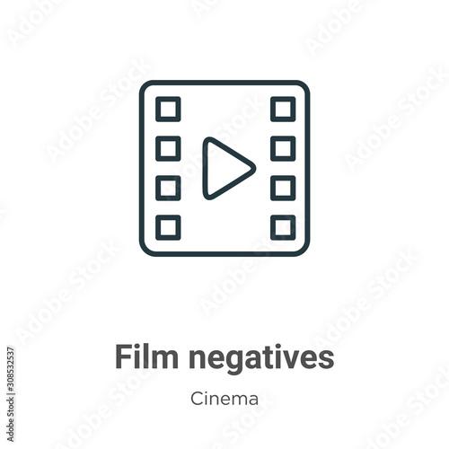 Film negatives outline vector icon Canvas Print