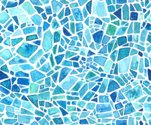 Seamless Mosaic Texture. Vecto...