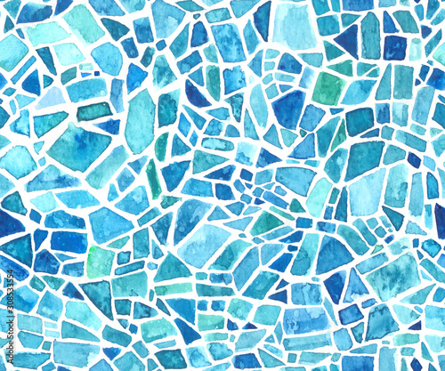 Canvas Print Seamless mosaic texture
