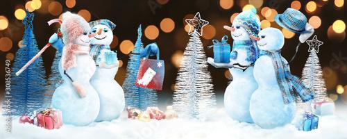 Photo Schneemann - Weihnachtsmotiv