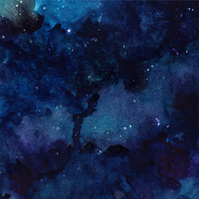 Watercolor Cosmic Texture With...