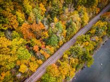 Fall Foliage Lines A Train Tra...
