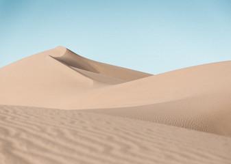 Sand dunes landscape on a sunny day in the desert near Yuma, AZ