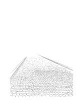 Hand Drawn Image Of Paving Stones, Sidewalk, Small Gray Bricks, Sketch.