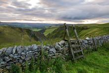 Elevated View Of Winnats Pass, Winnats Pass, Hope Valley, Peak District, Derbyshire