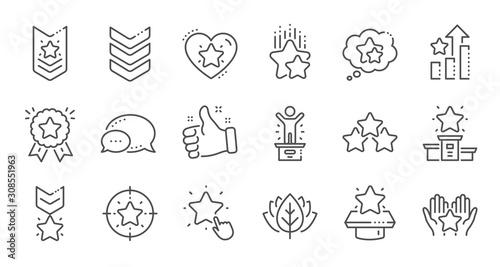 Cuadros en Lienzo Ranking line icons