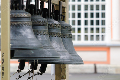 The bell in the belfry of the monastery, St. Petersburg. Canvas Print