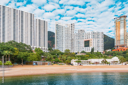 Obraz na plátne Empty beach by Repulse Bay. Hong Kong.