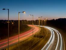 UK, England, Motorway A3 Dusk