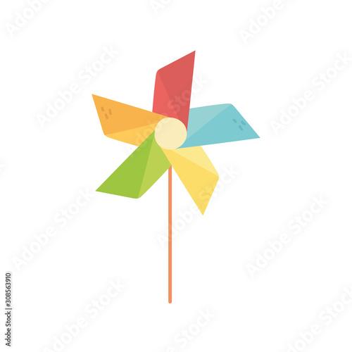 Photo kids toy, pinwheel wind stick icon