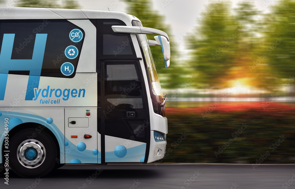 Hydrogen Fuel cell bus with zero emissions