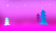 Leinwanddruck Bild - Christmas tree with stars on purple background