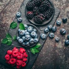 Fresh Berries With Raspberries...