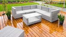 Patio Furnitures Outside In A ...