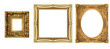 canvas print picture - antique isolated golden frame pictures