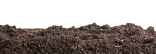 Soil Closeup Isolated On White...