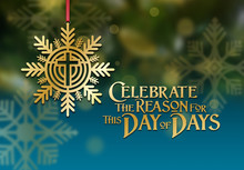 Christmas Snowflake With Christian Cross Day Of Days Ornament Background Graphic