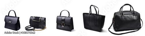 Photo Set of fashion woman bags