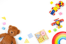 Baby Kids Toys Background. Ted...