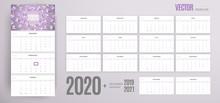 2020 Calendar Wall Template. V...