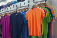 Colored T-shirts And Caps In T...