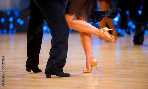 Fotografia, Obraz woman and man dancer latino international dancing