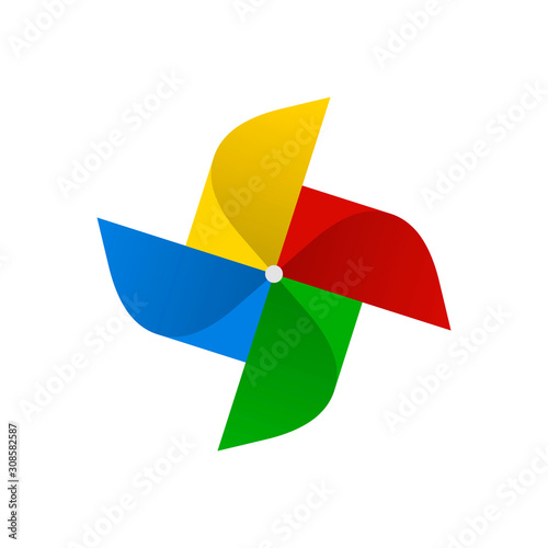 Valokuvatapetti pinwheel symbol in rainbow colors. vector illustration - eps10