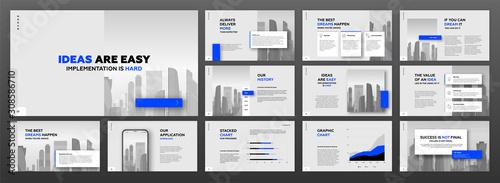 Cuadros en Lienzo Modern powerpoint presentation templates set for business