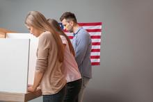 People Voting At Polling Stati...