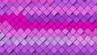 canvas print picture - Pink and purple rectangular background; abstract diagonal mosaic pattern composition 3d rendering