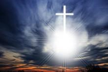 Glowing Cross . Christian Cros...