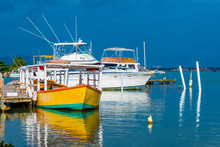 Colorful Empty Fishing Boat An...