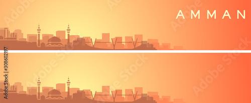 Photo Amman Beautiful Skyline Scenery Banner