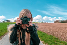 Young Girl With Camera - Femal...